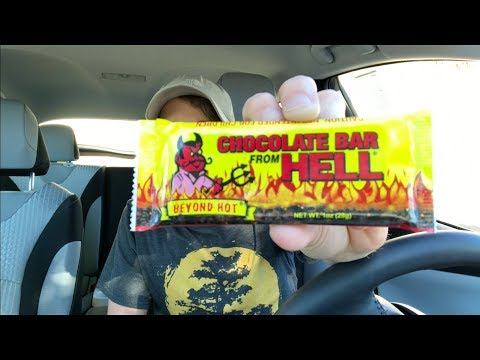 TRYING THE CHOCOLATE BAR FROM HELL!