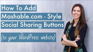 Add Mashable.com - Style Social Sharing Buttons (WordPress + Mashshare) - 2016