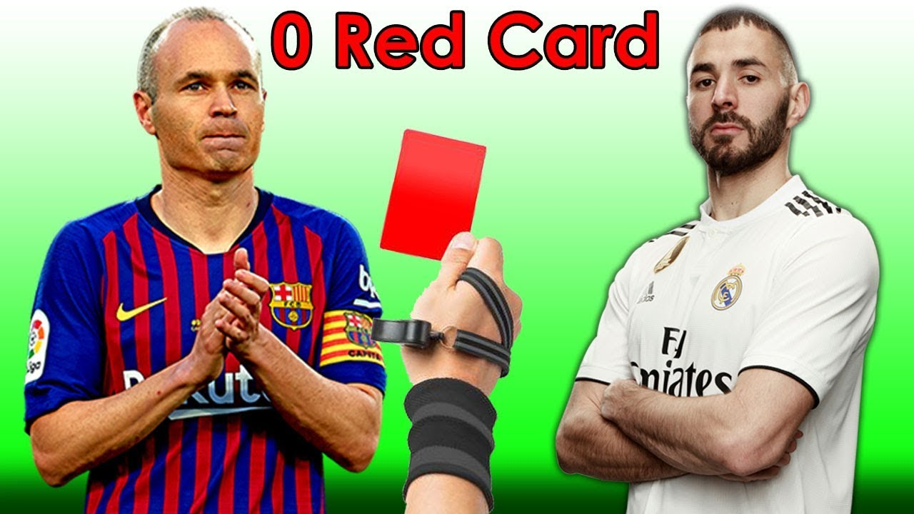Top 15 Players Who Have NEVER Received A Red Card ❤️