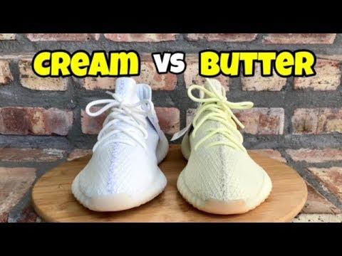 """1c3f84d30c495 Yeezy 350 V2 Comparison """"Cream"""" vs """"Butter"""" - YouTube"""