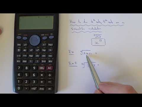 How To Do 4th Roots And 5th Roots On A Casio Calculator (Higher Roots)