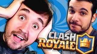 O LEON NÃO SABE JOGAR CLASH ROYALE!!! (Nem o Pedro) - Clash Royale Coop em dupla com Leon e Pedro