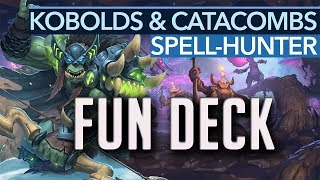 More spells more fun! | Spell Hunter by Kibler  - Hearthstone Kobolds & Catacombs Deck