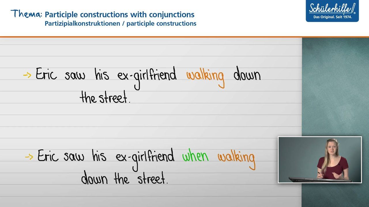 participle constructions grammar revision englisch