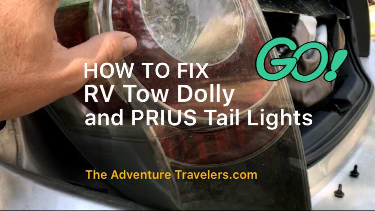 how to fix rv tow dolly and prius tail lights trailer wiring guide