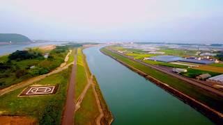 仁淀川ふれあいマラソンコース周辺の空撮