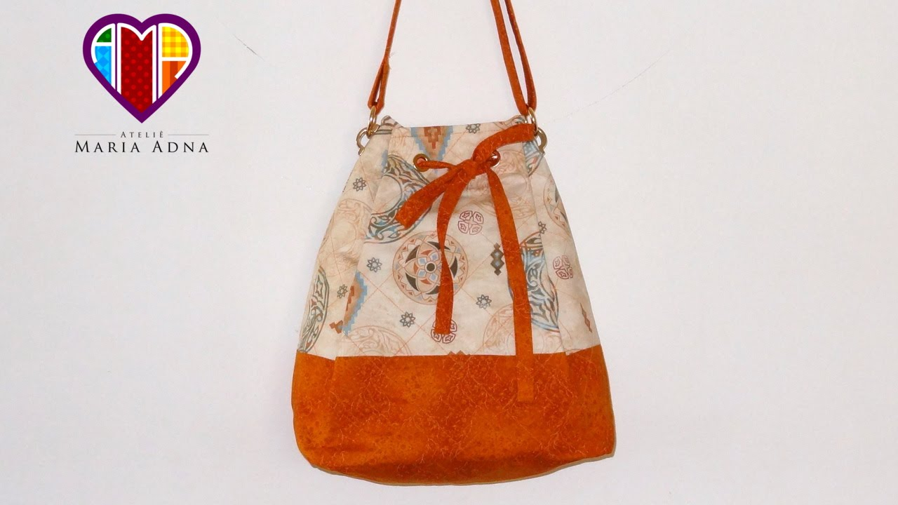 b7f7e55257528 Bolsa sacola de tecido Melissa. DIY. Fabric bag. Make a fabric bag ...