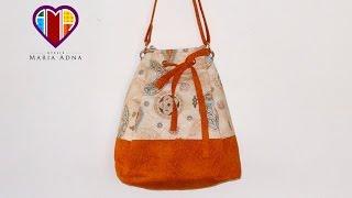 Bolsa sacola em tecidos Melissa – Maria Adna Ateliê