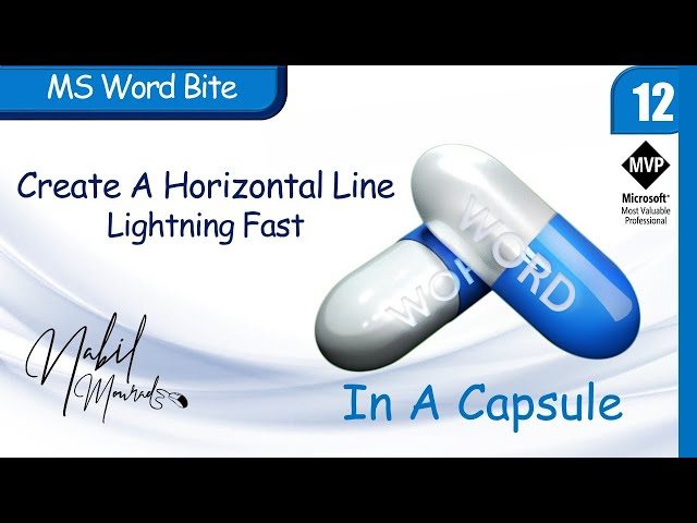 Lightning Fast Horizontal Line…Word In  Capsule (Episode 12)