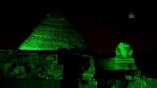 بالفيديو| مصر تضيء الأهرامات وأبو الهول باللون الأخضر تزامنا مع قمة المناخ الدولي