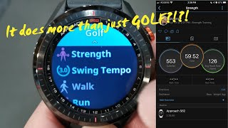 Garmin Approach S62 - a demo of all the other activities this watch can track, saved to your phone!