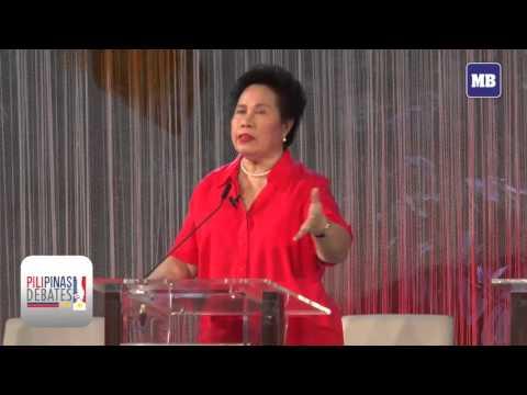 Sen. Miriam Defensor Santiago on her plan on territorial dispute with China on #PilipinasDebates2016