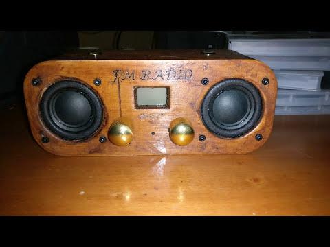 DIY 3D Printed Wood Speaker Enclosure - Radio FM-DAB + Bluetooth - Prototype!!