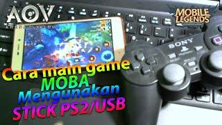 Cara main game MOBA, mengunakan Stick ps2/USB - TutorialAndoid