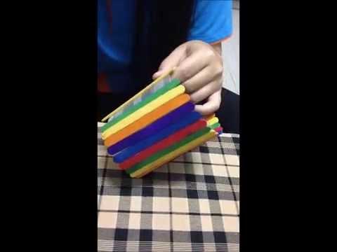ประดิษฐ์กล่องดินสอจากไม้ไอศครีม