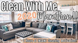 *NEW* 2020 CLEAN WITH ME MARATHON :: 2 HOURS OF INSANE SPEED CLEANING MOTIVATION & HOMEMAKING