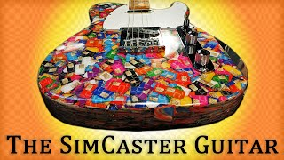 Telecaster Electric Guitar Build From 13,000 Sim Cards Video