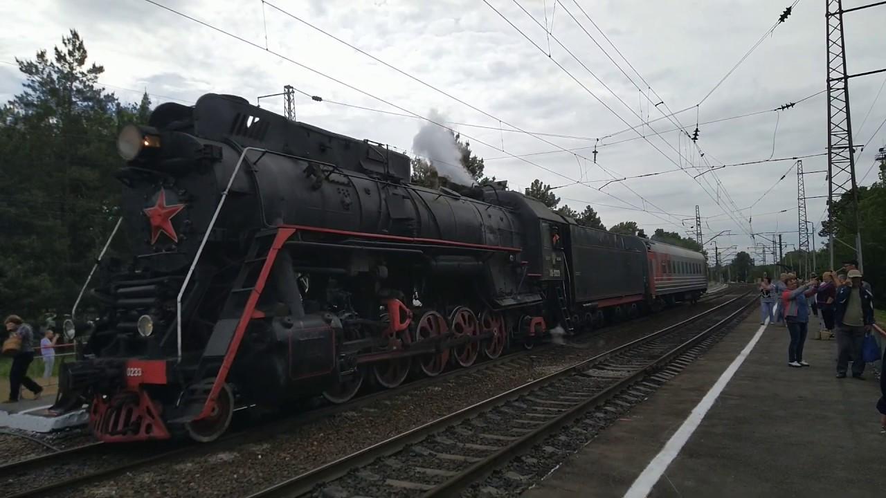 Мощь старого-доброго паровоза ЛВ-0223