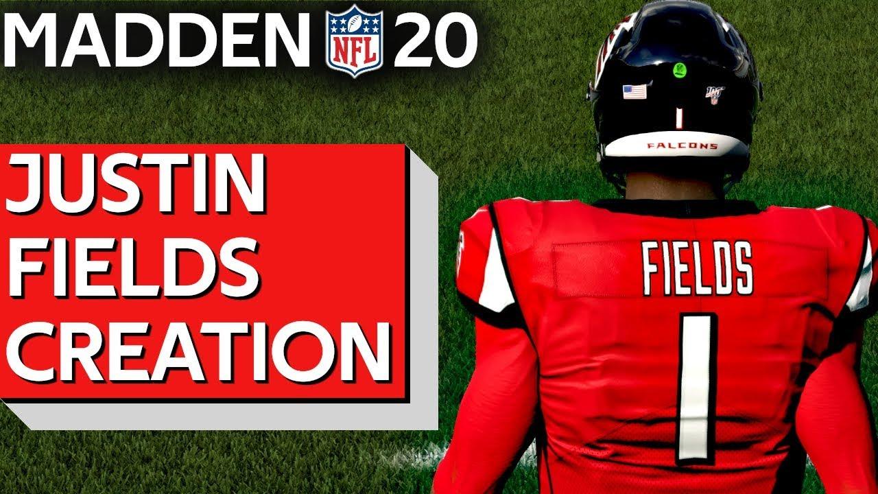 QB Justin Fields Ohio State Buckeyes Madden Creation NFL Draft PS Xbox PC YouTube