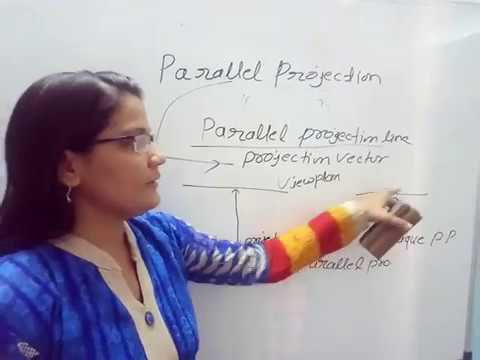 3D Projection (Parallel Projection ) in Computer Graphics in Hindi