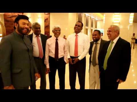 Minister Rauff Hakeem meet World Muslim League General Sec. Abdel Mohsen At-Turki on 2016.08.10