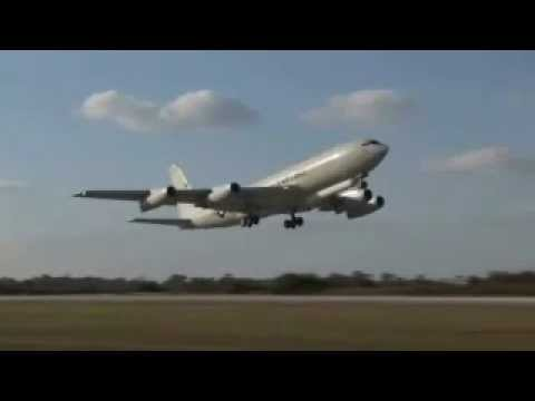 E-8C Joint STARS Engines First Flight - Dec. 20, 2008