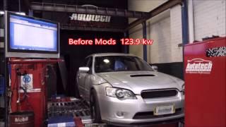 2006 subaru gt liberty turbo back exhaust top mount intercooler custom dyno tune with ecutek