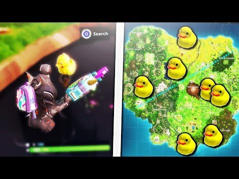 How To Find Hidden Rubber Duckies In Fortnite! Search Rubber Duckies Spawn Locations! (Week 3 Ducks)