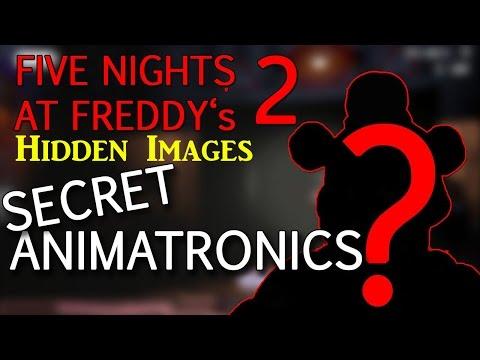 Hidden Images+Secret Animatronics!(Balloon Girl!)-Five Nights At Freddy's 2