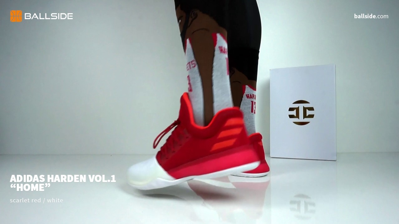 sports shoes 63b69 bd428 adidas Harden Vol 1 Home on feet