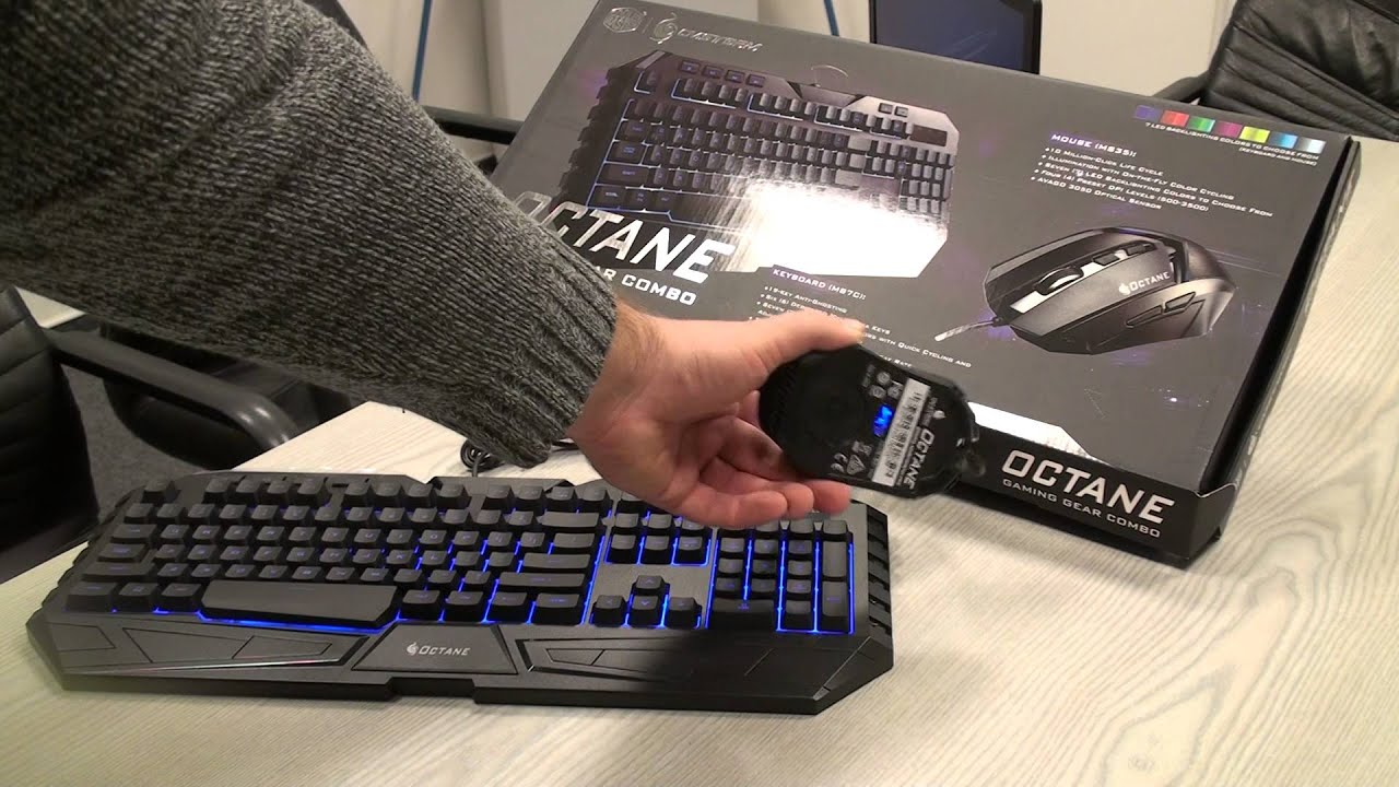 3077f90c338 Cooler Master STORM Keyboard and Octane Mouse Set close look - YouTube