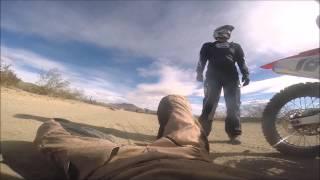 California City Dirt Bike Crash - Broken bone Commentary