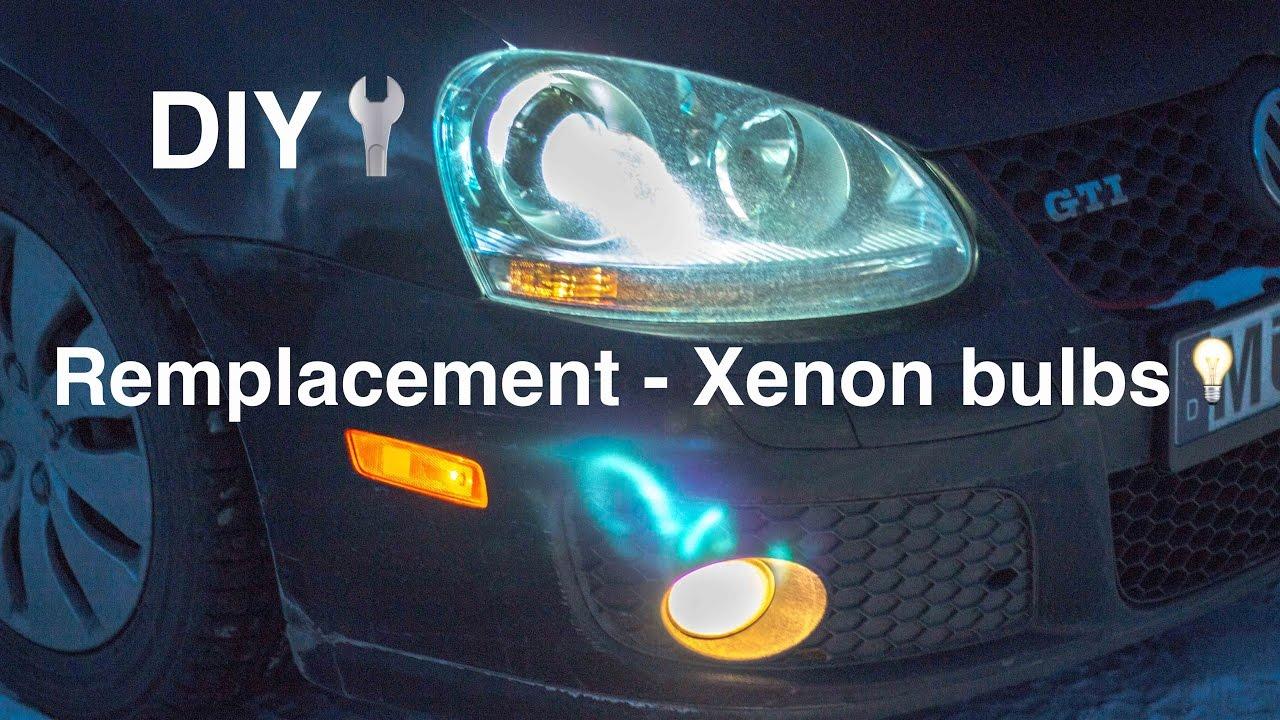 Remplacement Bi Xenon Headlights Bulbs Gti Mk5 Diy