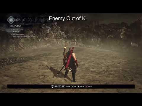 Nioh Izuna -[Zero Ki Enemy vs Enemy Out of Ki]