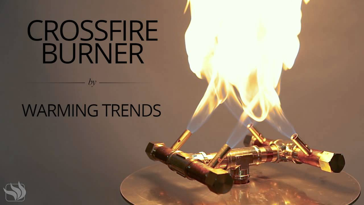 Warming Trends Crossfire Fire Pit Burner - Warming Trends Crossfire Fire Pit Burner - YouTube