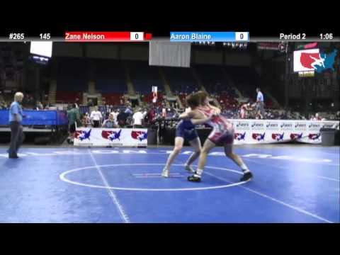 Fargo 2012 145 Round 1: Zane Nelson (Ohio) vs. Aaron Blaine (Washington)