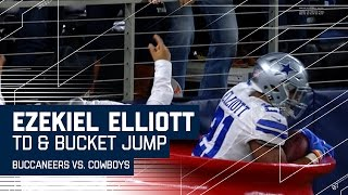 Ezekiel Elliott Scores & Jumps In a Salvation Army Bucket to Celebrate! | NFL Week 15 Highlights