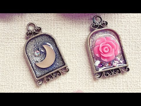 UV Resin Moon and Rose Open Bezel Charms | Watch Me Craft | DIY Tutorial