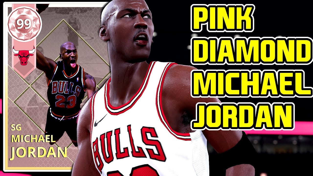 94a114c529a PINK DIAMOND MICHAEL JORDAN GAMEPLAY! THIS GOD IS THE BEST CARD IN MYTEAM!  NBA 2k18 MYTEAM