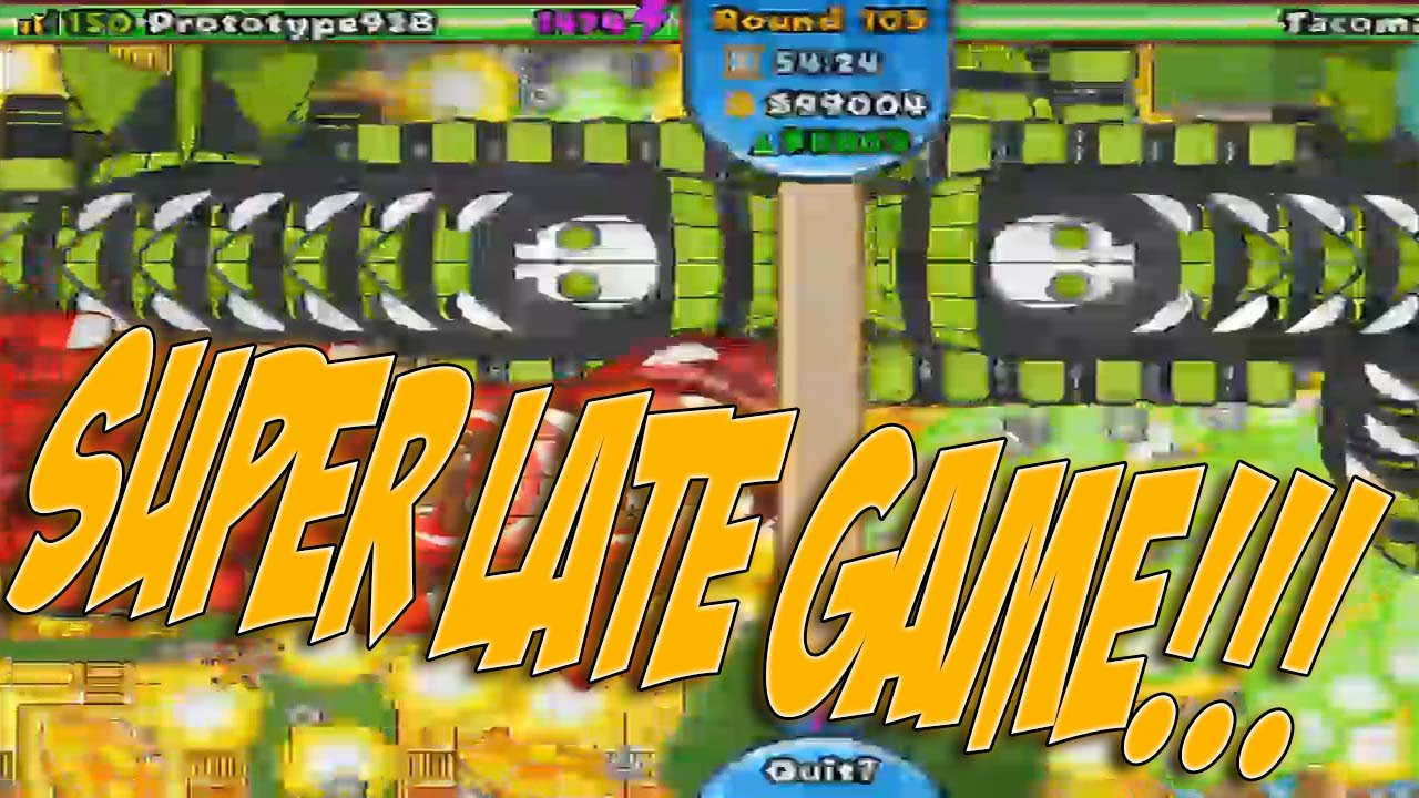 SUPER LATE GAME ROUND 108! - Bloons Tower Defense Battles Episode 7