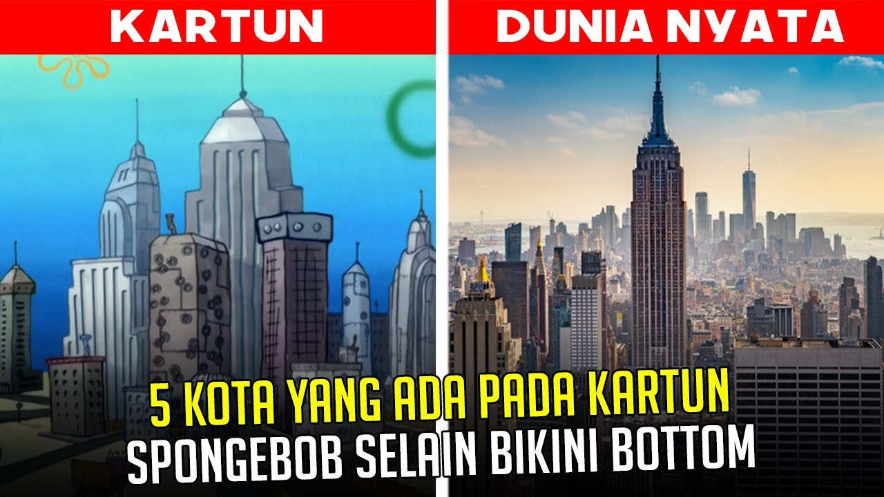 5 Kota yang ada pada kartun SpongeBob selain Bikini Bottom | #spongebobpedia - 47