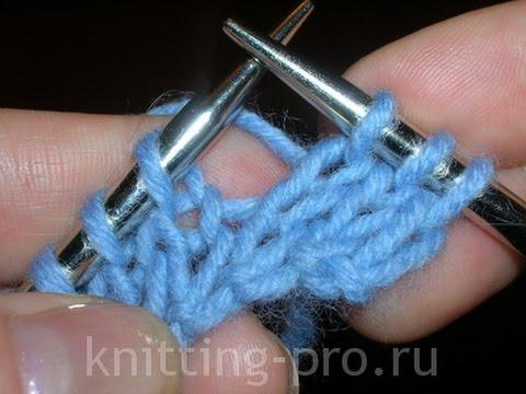 как вязать лицевые петли простое вязание со спицами для