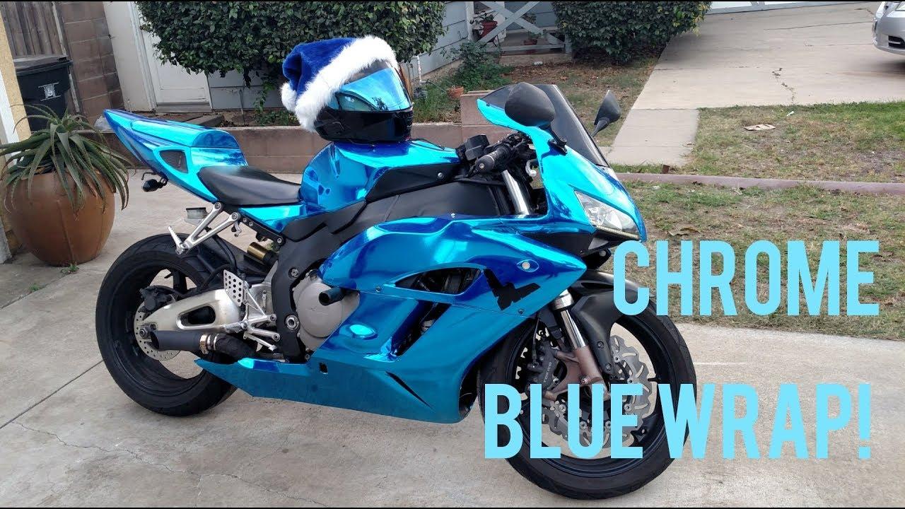 Blue Chrome Wrap Motorcycle Newmotorjdi Co