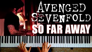 AVENGED SEVENFOLD - So Far Away | PIANO COVER (M. Shadows' vocals)