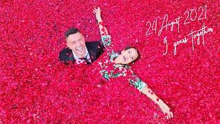 حفلة عيد زواجنا ال ٩ سنين💖 !! مليتلها المسبح ورد 🌹 (عدد ساعاتنا سوا)
