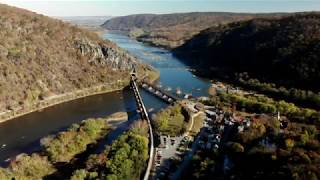 Harpers Ferry, West Virginia | Maryland Heights | Potomac & Shenandoah River | 4K Aerial Drone Tours