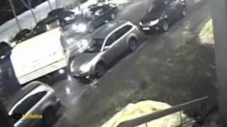 Архангельск ДТП зацепил задним ходом.Russian car accident in Arkhangelsk(