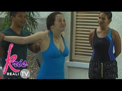 Kris Aquino in cleavage-baring swimsuit - YouTube
