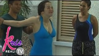 Repeat youtube video Kris Aquino in cleavage-baring swimsuit