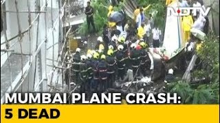 5 Dead As Small Plane Crashes In Mumbai's Crowded Ghatkopar